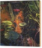 Water Garden Series A Wood Print by Patricia Reed