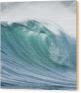 Wave In Pristine Ocean Wood Print by John White Photos