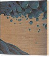 Waves Crashing Wood Print by Tim Foley