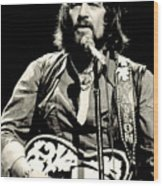 Waylon Jennings In Concert, C. 1976 Wood Print by Everett