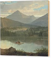 Western Landscape Wood Print by John Mix Stanley