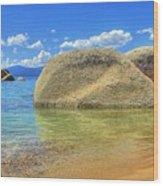 Whale Beach Lake Tahoe Wood Print by Brad Scott