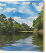 What I Remember About That Day On The River Wood Print by Wendy J St Christopher