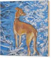 Whippet Wood Print by Lee Ann Shepard