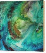 Whirlpool By Madart Wood Print by Megan Duncanson