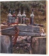 Whiskey And Guns Wood Print by Leland D Howard