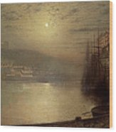 Whitby Wood Print by John Atkinson Grimshaw