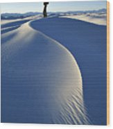 White Sands National Monument, Nm Usa Wood Print by Dawn Kish
