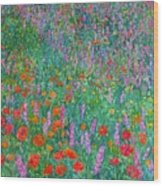 Wildflower Current Wood Print by Kendall Kessler