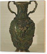 Wildflower Vase Balsamroot Side Wood Print by Dawn Senior-Trask