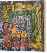Willow Lake Wood Print by Micah Mullen