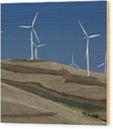 Wind Power Wood Print by Todd Kreuter