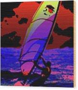 Windsurfer Wood Print by Brian Roscorla