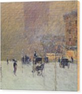 Winter Afternoon In New York Wood Print by Childe Hassam