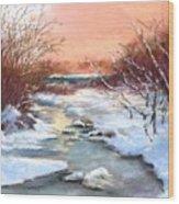 Winter Brook Wood Print by Jack Skinner