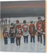Winter Classic 2012 Wood Print by Ron  Genest
