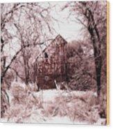 Winter Wonderland Pink Wood Print by Julie Hamilton