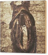 Without Horse Wood Print by Wim Lanclus