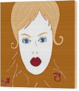 Woman In Fashion Wood Print by Frank Tschakert