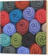 Wool Yarn Skeins Wood Print by Jim Hughes