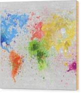 World Map Painting Wood Print by Setsiri Silapasuwanchai