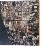 World Trade Center, Aerial Photograph Wood Print by Everett
