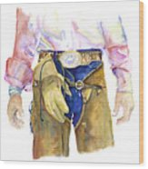 Wrangler  Wood Print by Pat Saunders-White