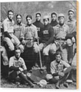 Yale Baseball Team, 1901 Wood Print by Granger