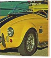 Yellow Cobra Wood Print by Gwyn Newcombe