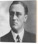 Young Franklin Delano Roosevelt Wood Print by War Is Hell Store