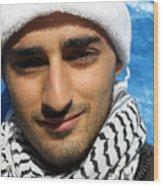 Young Palestinian Man Wood Print by Munir Alawi