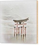 Zen Wood Print by Jacky Gerritsen