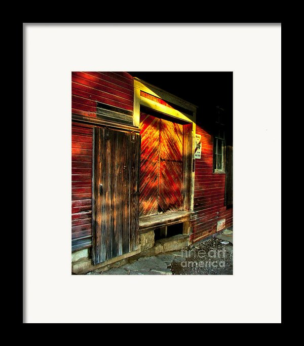 Williams Feed Mill In Williams Indiana Framed Print By Julie Dant