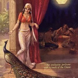 The Advertising Archives -  1920s Uk Rigaud Peacocks Arabian Arabs