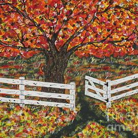 Autumn At The White Fence Farm by Jeffrey Koss