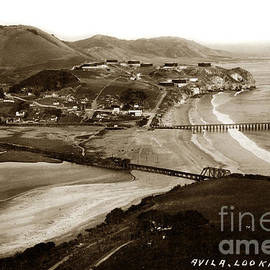 Avila Beach Looking east San Luis Bay California circa 1920 by California Views Archives Mr Pat Hathaway Archives