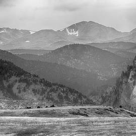 Eldorado Canyon And Continental Divide Above Bw by James BO Insogna