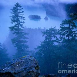 Fog on Diablo Lake by Tracy Knauer