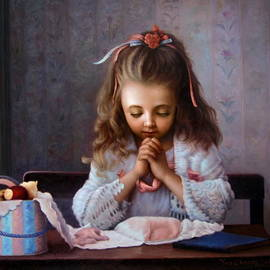 Girl's Prayer by Yoo Choong Yeul