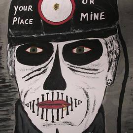 Scary Coal Miner Painting by Jeffrey Koss by Jeffrey Koss