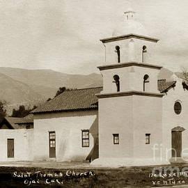 St. Thomas Aquinas Catholic Church  Ojai Cal 1920 by California Views Archives Mr Pat Hathaway Archives