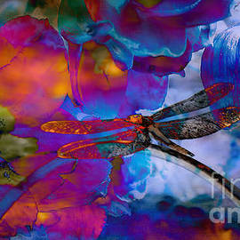 Stunning  photographic Art Dragonfly by Beverly Guilliams
