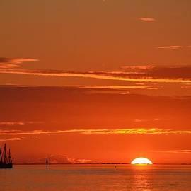 Jeff at JSJ Photography - 0107 Christopher Columbus Sailing Ship Nina Sails Off Into The Sunset