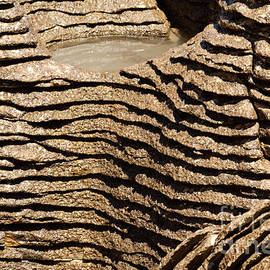 Background of Pancake Rocks of Punakaiki NZ by Stephan Pietzko