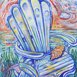 Susan Schiffer - Blue Rocking Chair