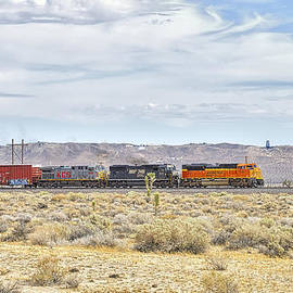 BNSF 9112 Westbound from Boron by Jim Thompson