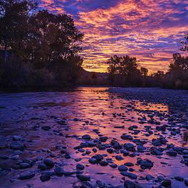 Boise River Sunrise by Vishwanath Bhat