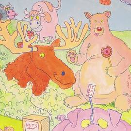 Cartoon Animals by Mike Jory