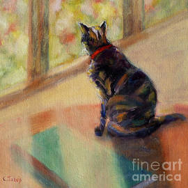 Cat by Window by Carolyn Jarvis