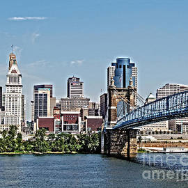 Cincinnati Roebling Bridge by Stephen Whalen